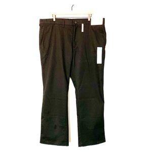 HAGGAR Straight Fit, Plain Front Dress Slacks, 42W